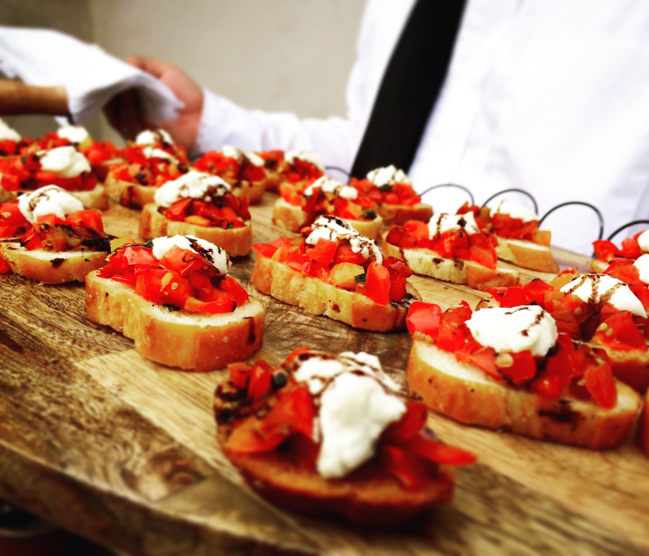 Bruschetta with Goat Cheese & Balsamic Syrup